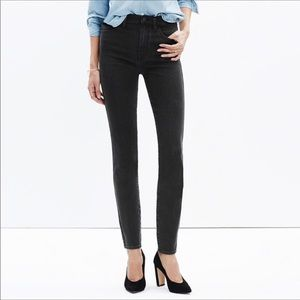 Madewell Black Frost High Riser Skinny Jeans